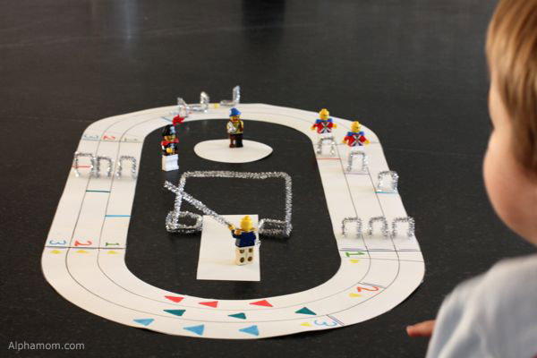 Mini Summer Olympics Track and Field with Legos