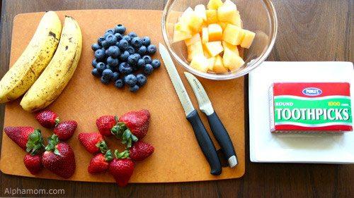 Supplies for fruit art craft