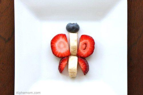 butterfly fruit art