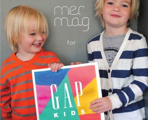 Mer Mag for GapKids: craft while you shop
