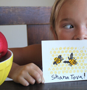 Sweet Little DIY Honey Bee Cards for Rosh Hashanah!