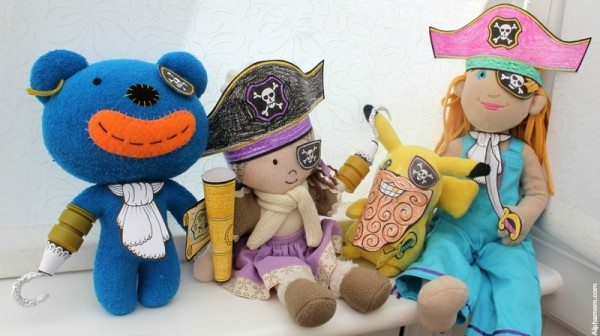 Talk Like A Pirate Day: Printable Costumes for Your Stuffed Toys