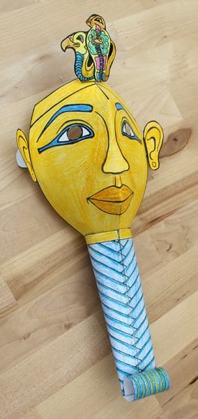 paper mummy mask