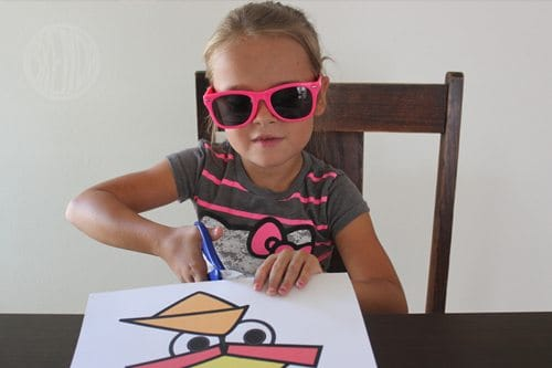 DIY Angry Bird Masks for Halloween (step 1) by Brenda Ponnay for Alphamom.com