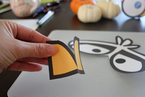 DIY Angry Bird Masks for Halloween (step 4) by Brenda Ponnay for Alphamom.com