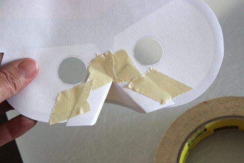 DIY Angry Bird Masks for Halloween (step 5) by Brenda Ponnay for Alphamom.com