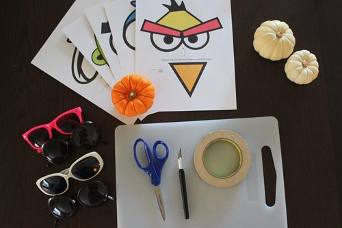 DIY Angry Bird Masks for Halloween (supplies) by Brenda Ponnay for Alphamom.com