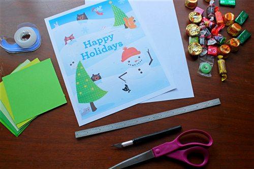 Supplies needed to make Advent Calendar Printable