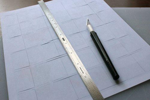 Cutting paper to make Advent Calendar Printable