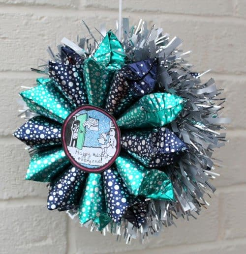 DIY Star of Treats Advent Calendar Craft hanging as a decoration
