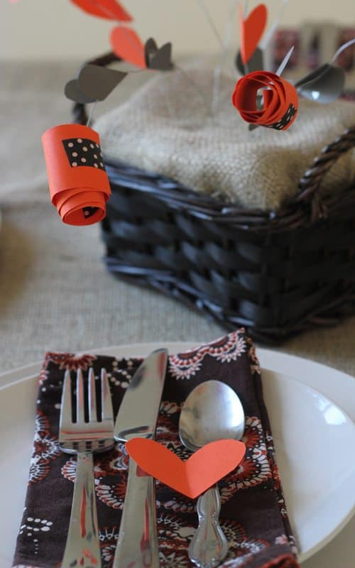 Thanksgiving table with Gratitude centerpiece