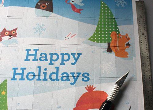 Advent Calendar Printable Happy Holidays