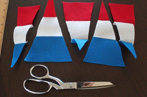 patriotic felt parade pennants