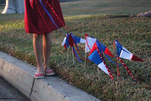 DIY Patriotic parade pennants