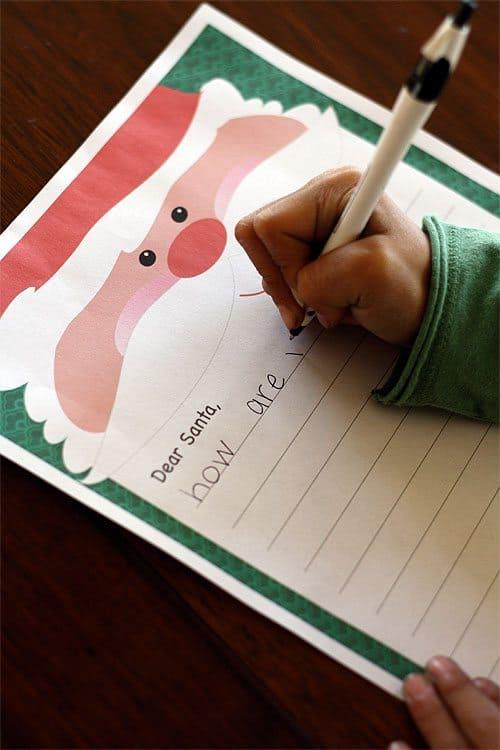 Letter to Santa (Free Printable)