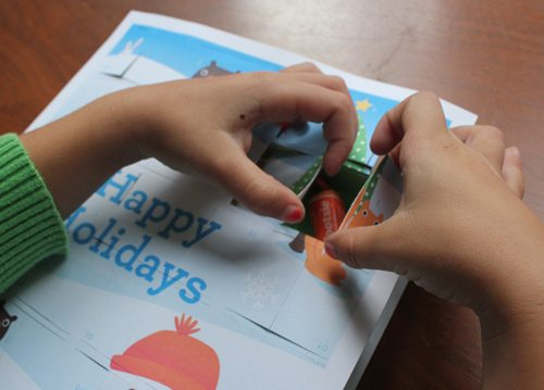 Advent Calendar Printable craft with candy