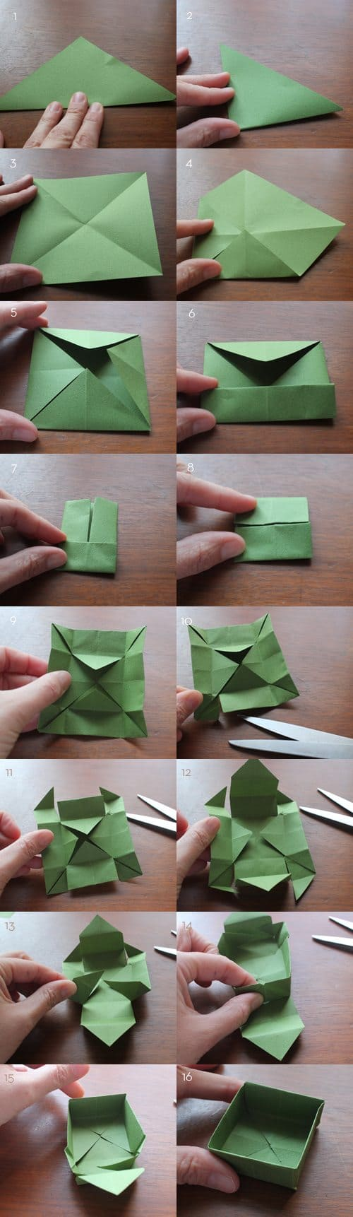 Folding small paper boxes for Advent Calendar Printable