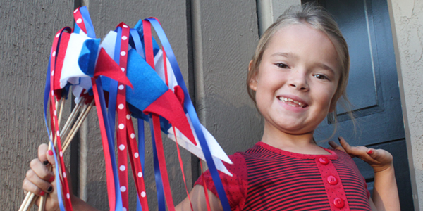 Quick DIY Parade Pennants for Veterans Day