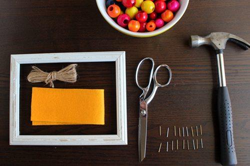 Supplies needed for DIY Abacus Menorah
