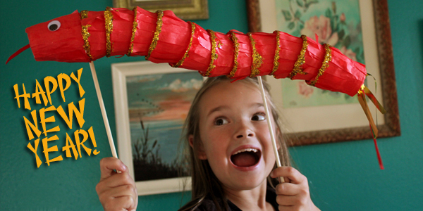 Chinese New Year Craft: Year of the Snake Puppet DIY!