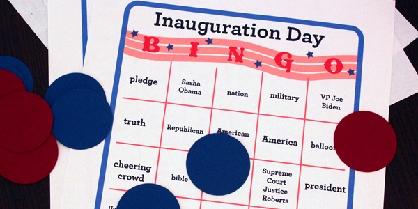Inauguration Day Bingo for Kids!