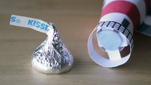 class valentine hershey's kiss candy card