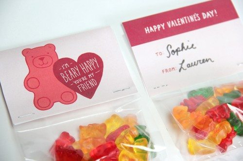 graphic regarding Gummy Bear Printable named Gummy Undertake Valentines Sweet Address Bag Toppers Alpha Mother