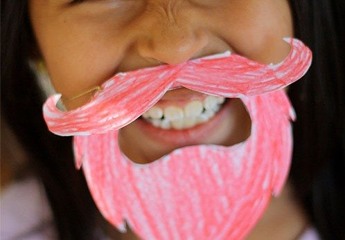 Kid's Leprechaun Beard Printable for St. Patrick's Day