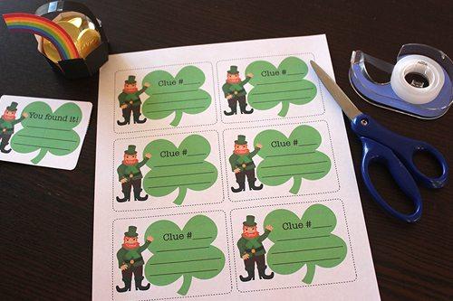 Treasure Hunt printables for St. Patrick's Day