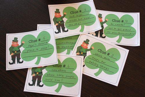 St. Patrick's Day treasure hunt printables