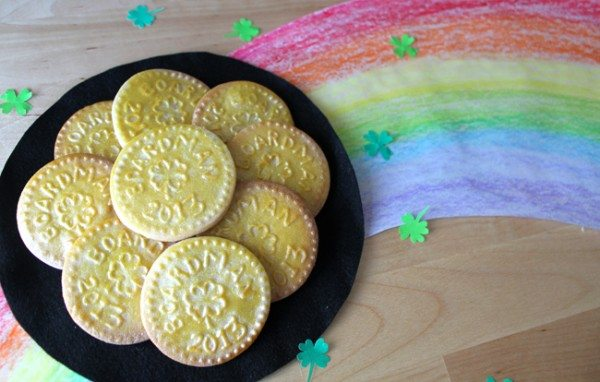 Personalized Gold Coin Cookie Stamps for St. Patrick's Day