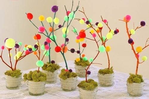 DIY Mini Easter Trees
