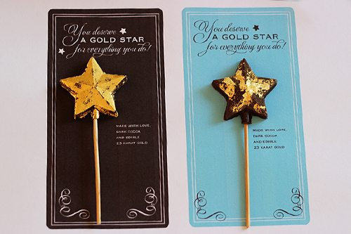 Edible Chocolate Gold Stars for Teacher Appreciation Gifts