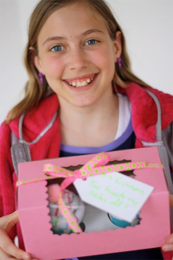 sock cupcake teacher appreciaiton gift