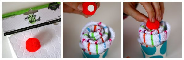 sock cupcake tutorial 2