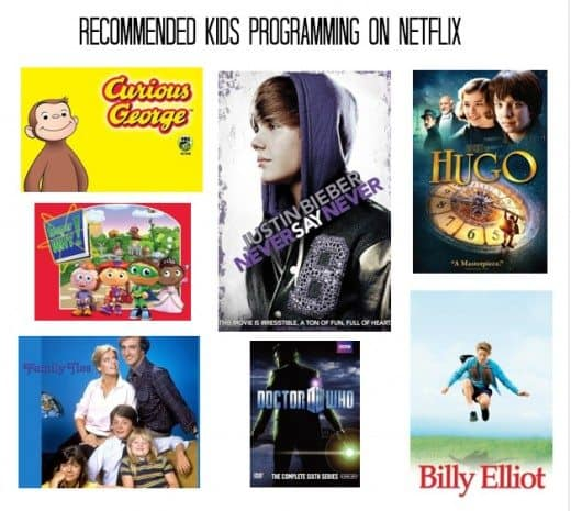 Recommendations for kids on Netflix