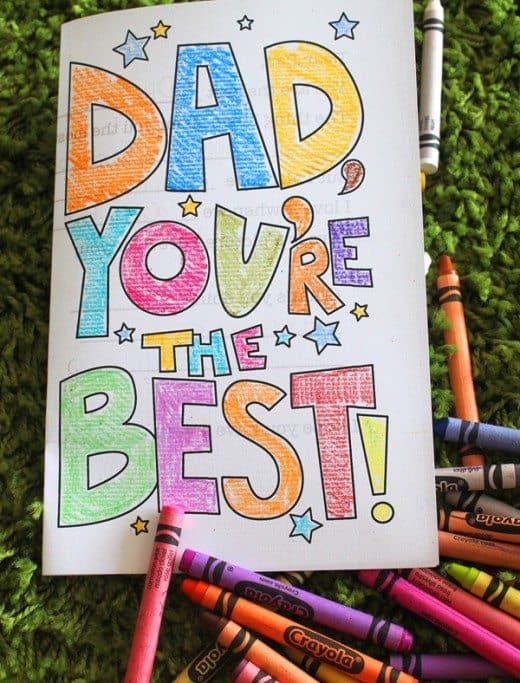 Father's Day Card from kids Printable