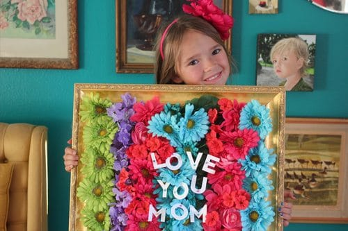 Mother's Day Framed Bouquet Craft Gift for Mother's Day