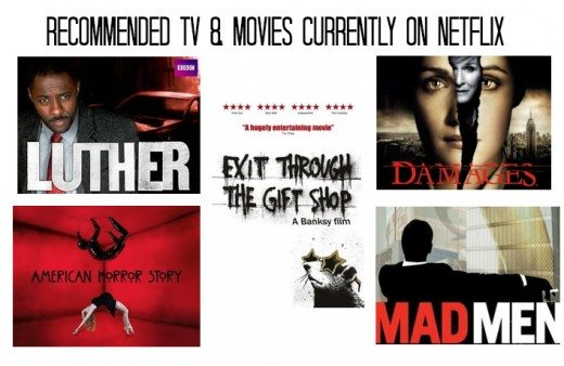 tv and movie recommendations on netflix
