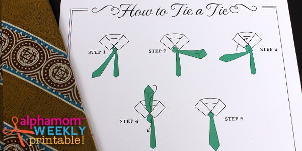 How To Tie-a-Tie Printable for Dads and Grads!