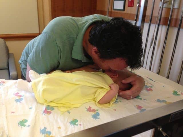 Rick and Cash at hospital