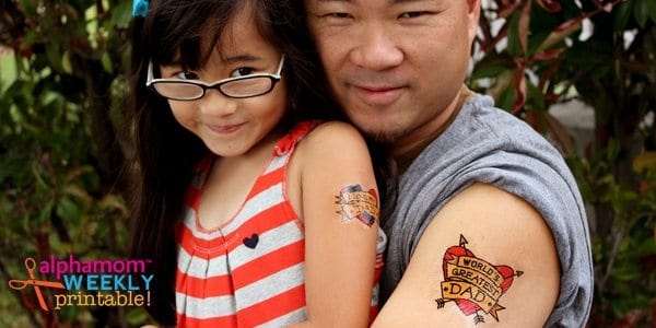I Love Dad Temporary Tattoos for Father's Day