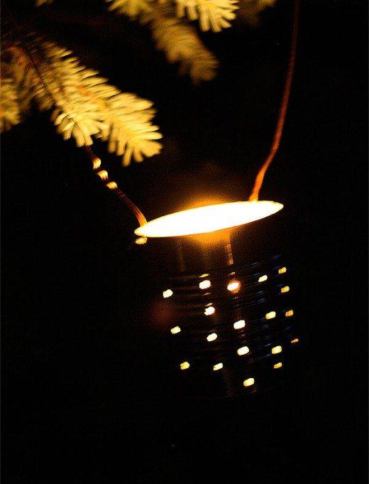 DIY Metal can lantern
