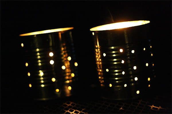 DIY Metal Can Lanterns