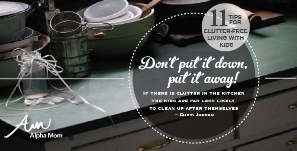 Don't Put it Down, Put It Away! 11 Tips for Clutter-free Living with Kids