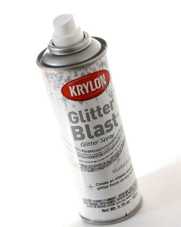 Krylon Glitter Blast Spray Paint for Ribbon Wand Tutorial