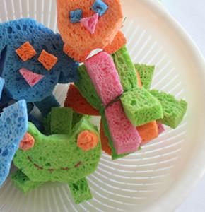 Sponge Ball Animals DIY as a Water Fun Craft