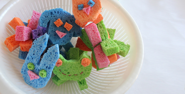 Sponge Ball Animals DIY as a Water Fun Craft