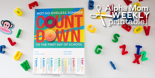 Back-To-School Countdown Poster Printable!