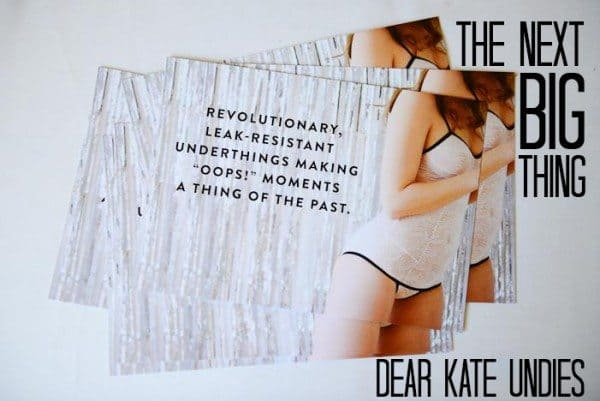 Leak-resistant Underwear by Dear Kate